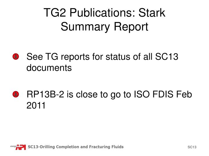 TG2 Publications: Stark