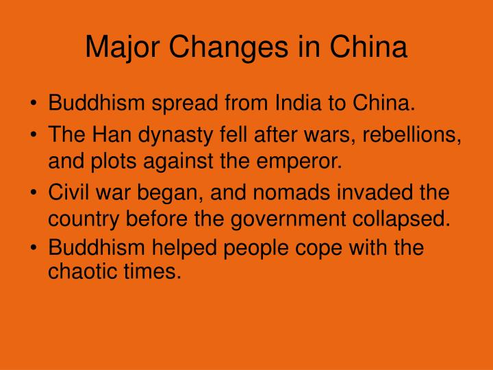 Major Changes in China