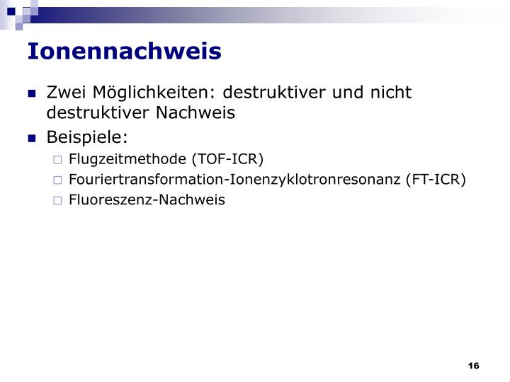Ionennachweis