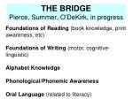 the bridge pierce summer o dekirk in progress