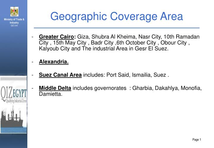 Geographic coverage area