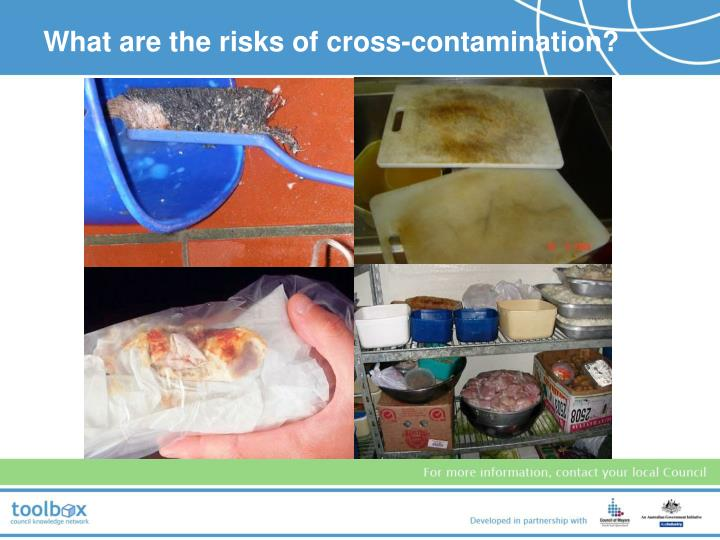What are the risks of cross-contamination?
