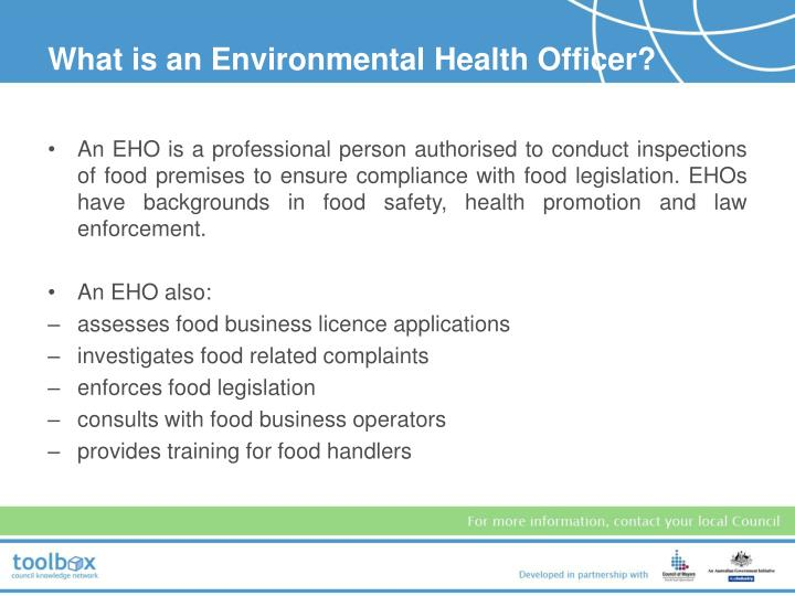 What is an Environmental Health Officer?