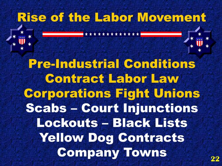 Rise of the Labor Movement