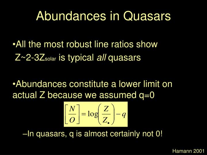 Abundances in Quasars