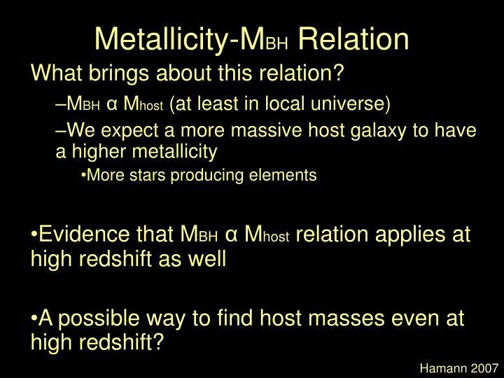Metallicity-M