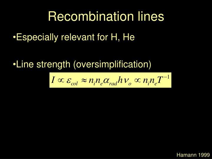 Recombination lines