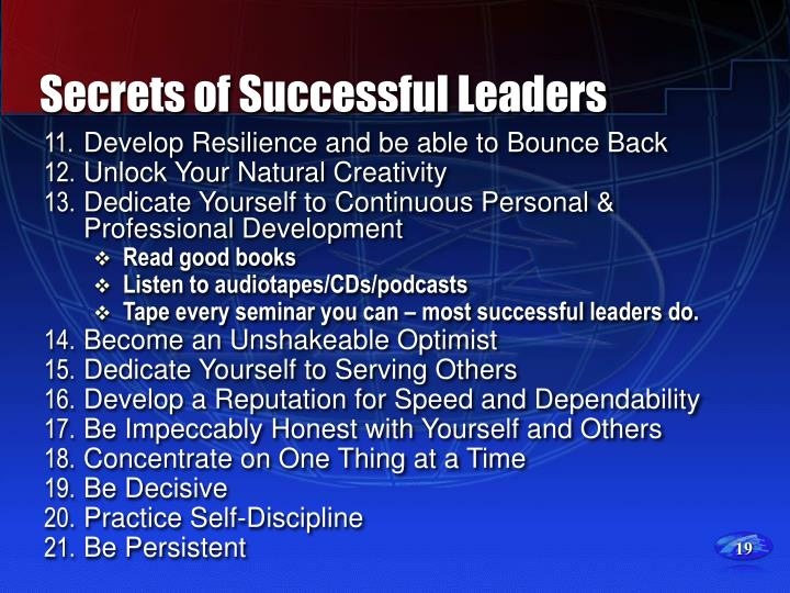 Secrets of Successful Leaders