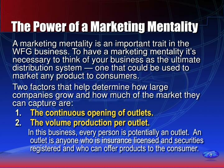 The Power of a Marketing Mentality