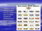 awards ribbons medals