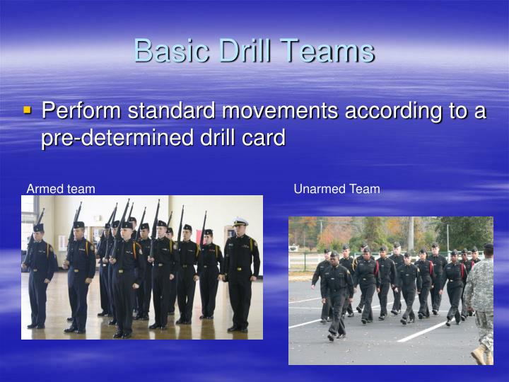 Basic Drill Teams
