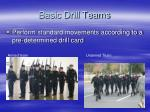 basic drill teams