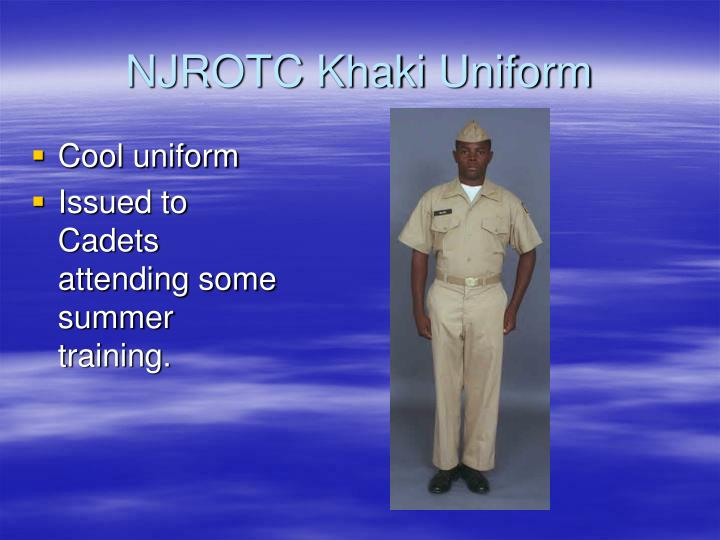 NJROTC Khaki Uniform