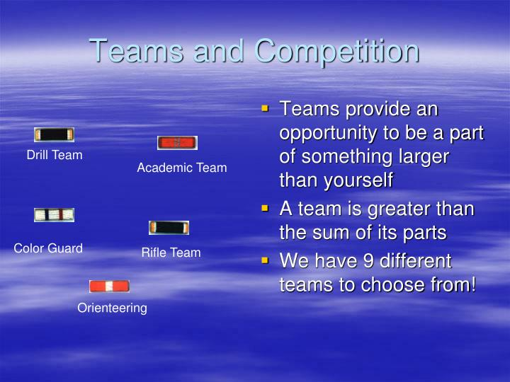Teams and Competition