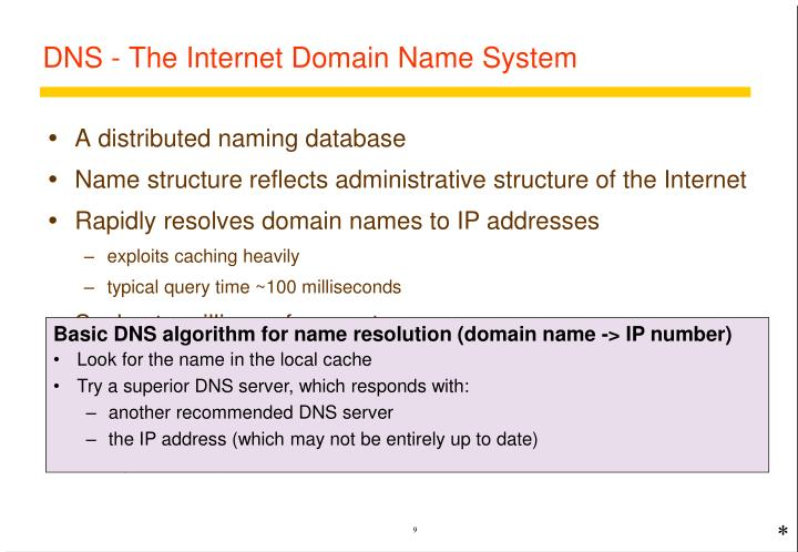 DNS - The Internet Domain Name System
