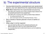 b the experimental structure