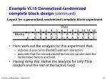 example vi 15 generalized randomized complete block design continued