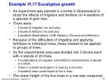 example vi 17 eucalyptus growth