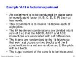 example vi 19 a factorial experiment