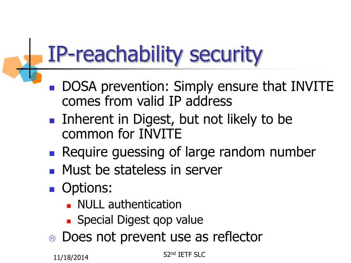 IP-reachability security