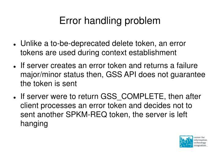Error handling problem