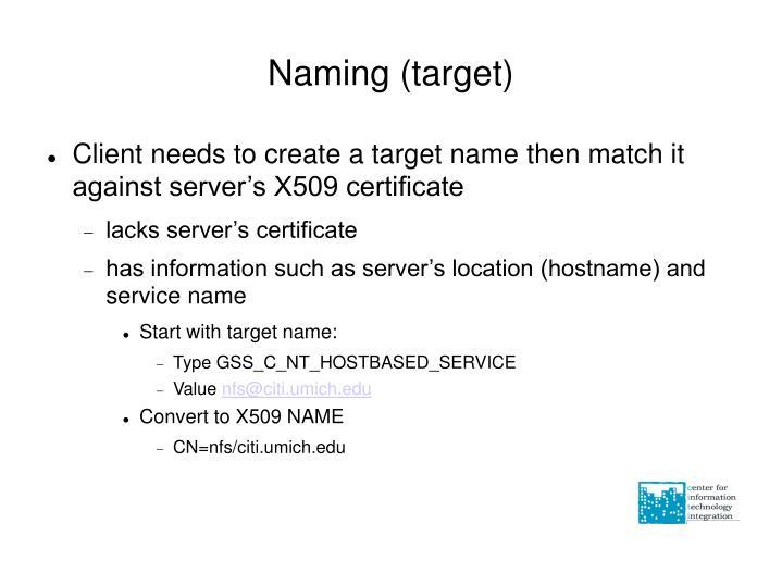 Naming (target)