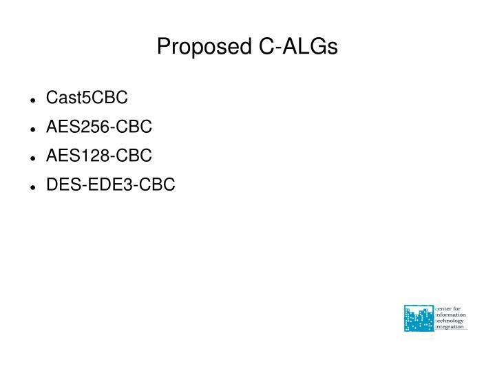 Proposed C-ALGs