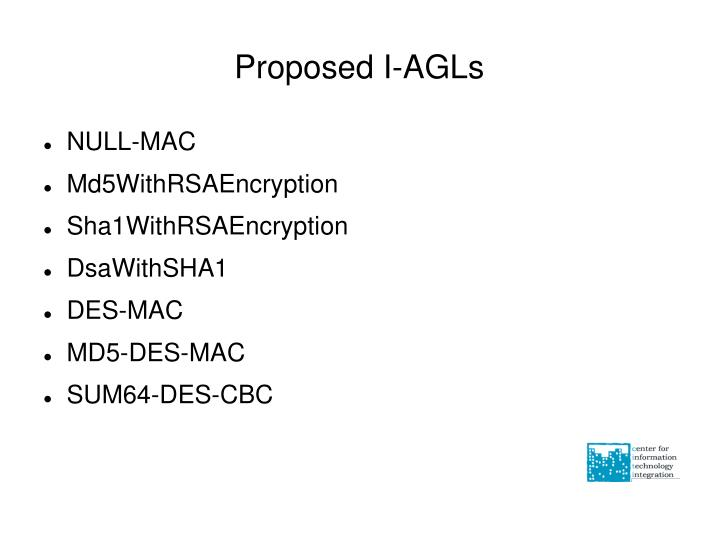 Proposed I-AGLs