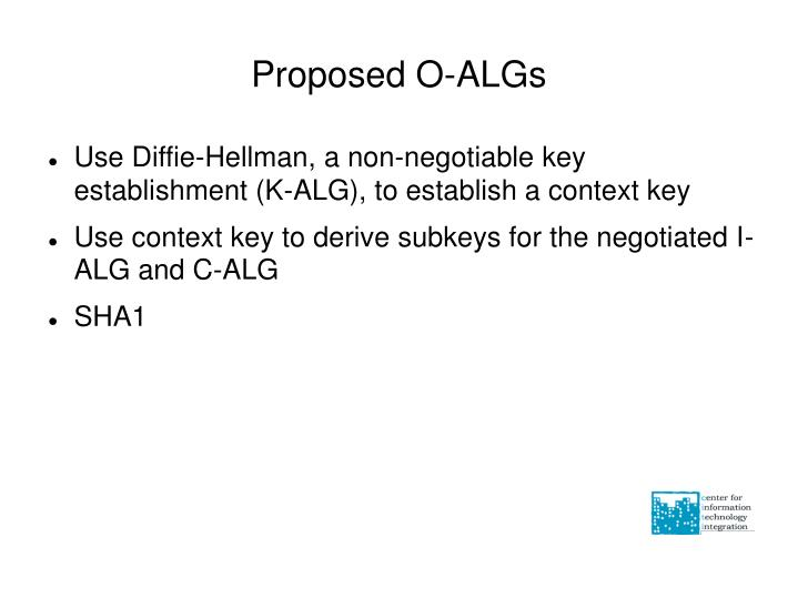 Proposed O-ALGs