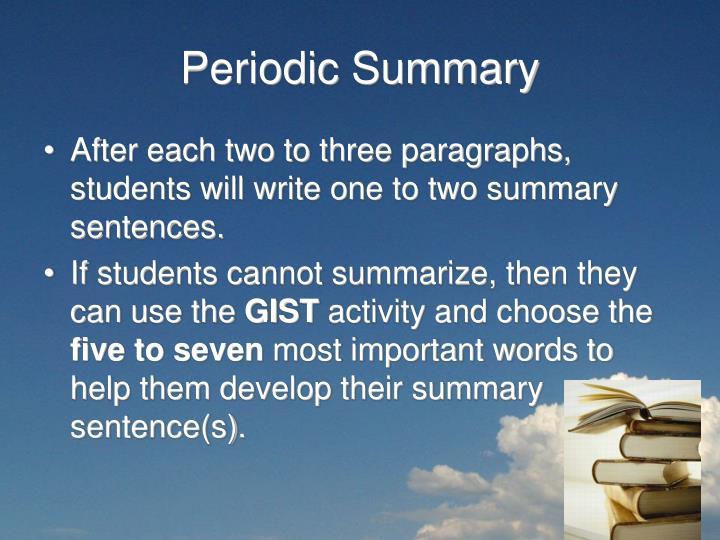 Periodic Summary