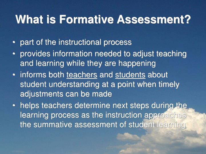 What is formative assessment1