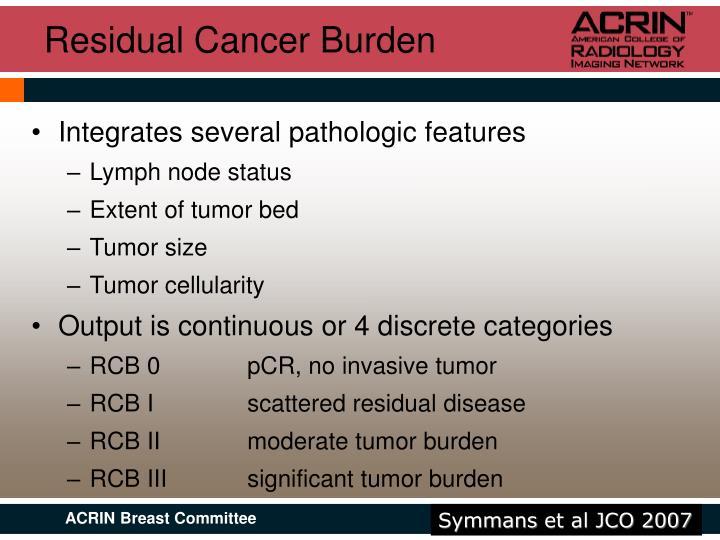 Residual Cancer Burden