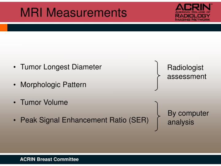 MRI Measurements