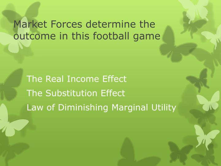 Market Forces determine the outcome in this football game