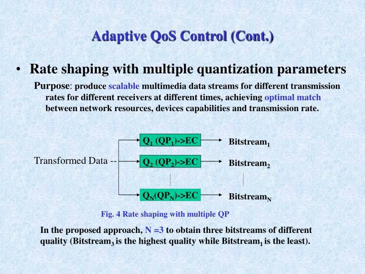Adaptive QoS Control (Cont.)