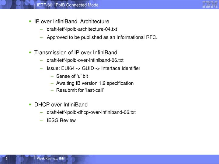 IP over InfiniBand  Architecture