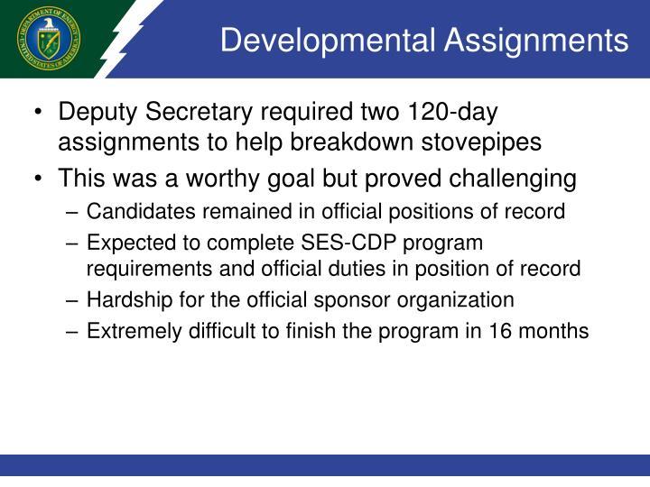 Developmental Assignments