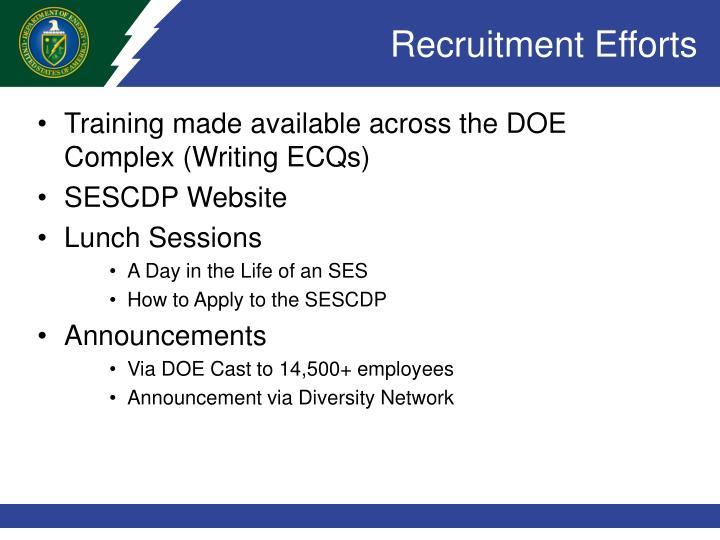 Recruitment Efforts