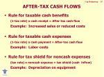 after tax cash flows
