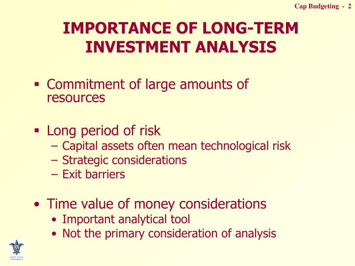 Importance of long term investment analysis