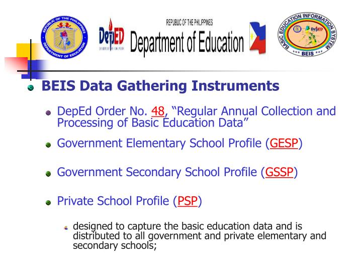 BEIS Data Gathering Instruments