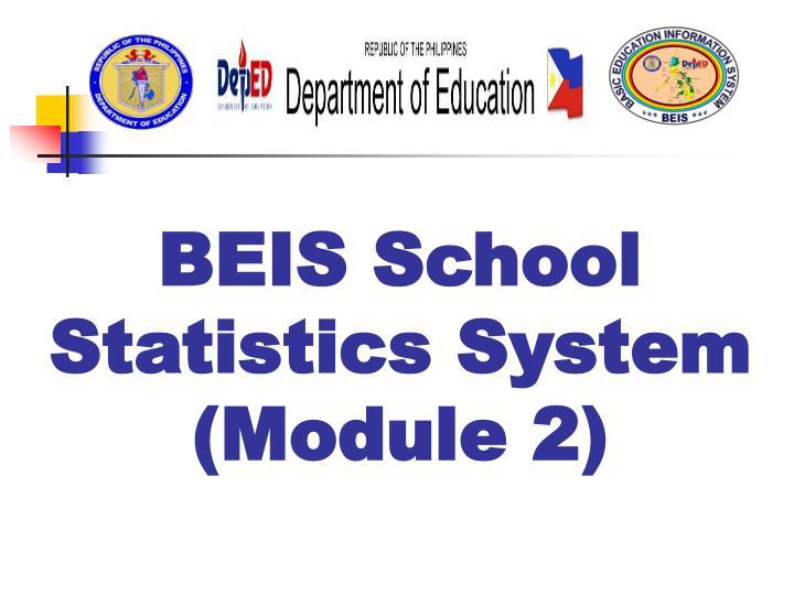 BEIS School Statistics System