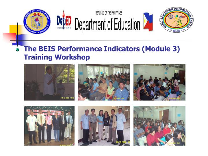 The BEIS Performance Indicators (Module 3) Training Workshop