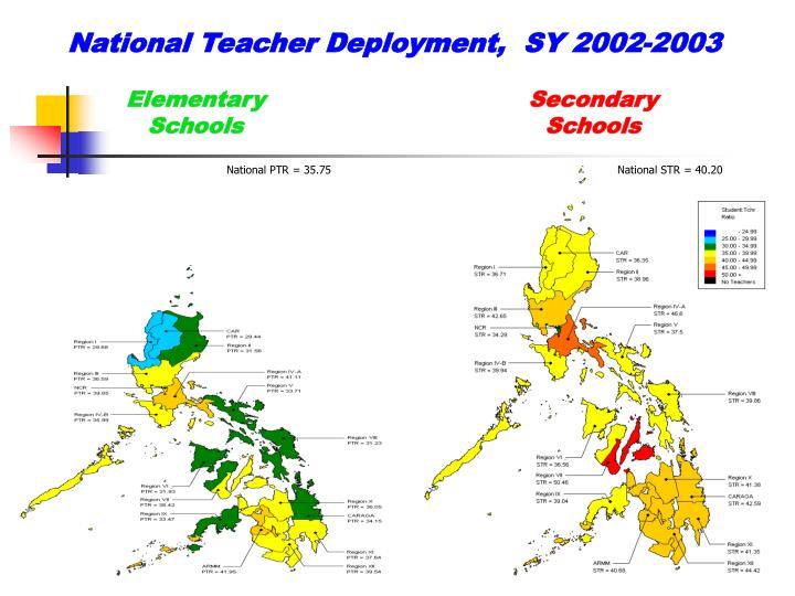National Teacher Deployment,  SY 2002-2003