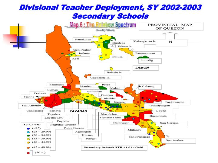 Divisional Teacher Deployment, SY 2002-2003