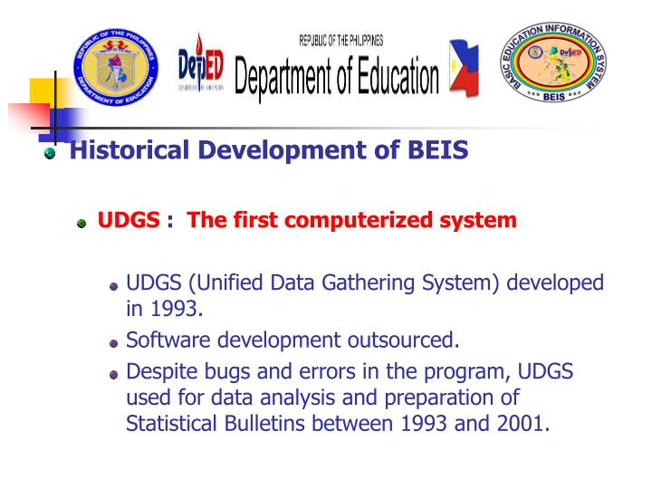 Historical Development of BEIS