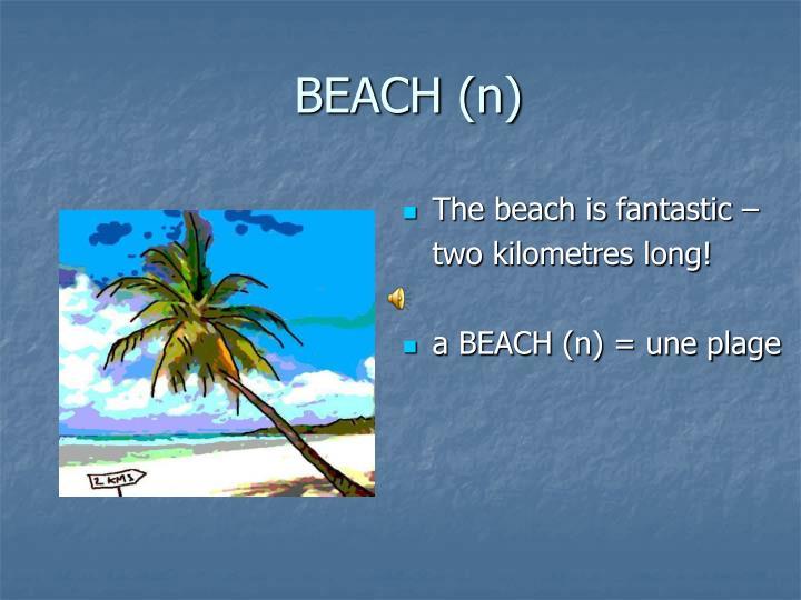 BEACH (n)