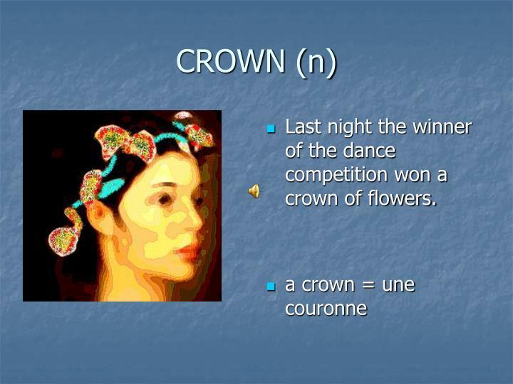 CROWN (n)