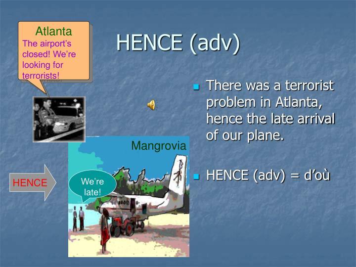 HENCE (adv)