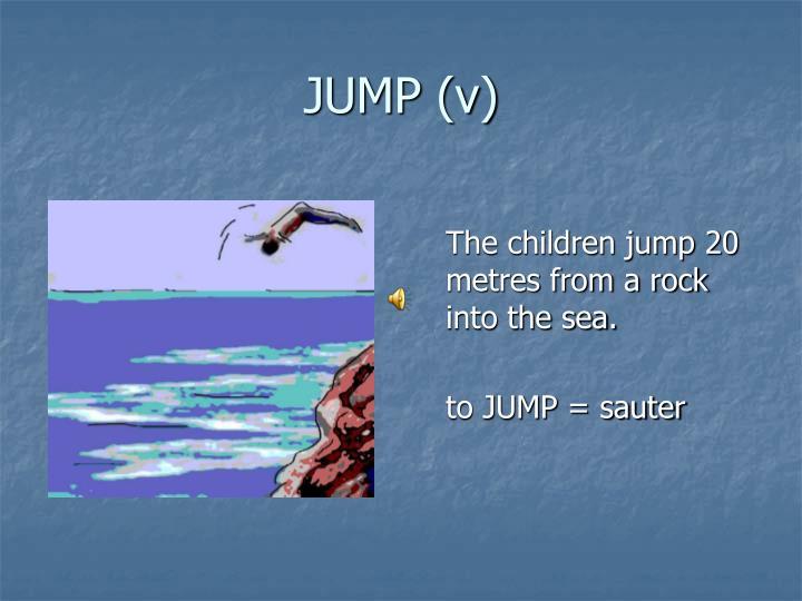 JUMP (v)